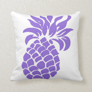 Reversible Purple Summer Pineapple Pillow