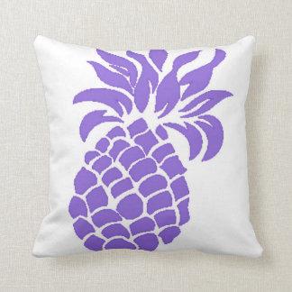 Reversible Purple Summer Pineapple Pillow Throw Cushions