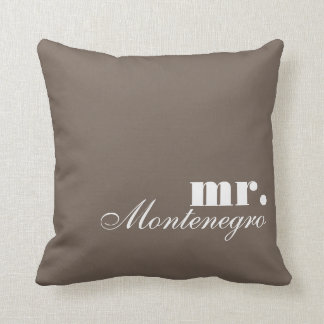 Reversible Throw Pillows Mr. and Mrs. Custom Names