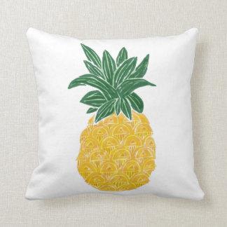 Reversible Watercolor Pineapple Pillow