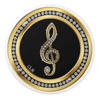 Revised Bling Music Note Cabinet Knobs