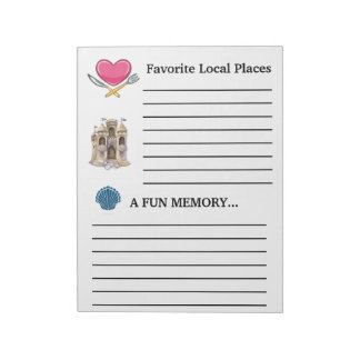 Revised Guest Book Note Pad