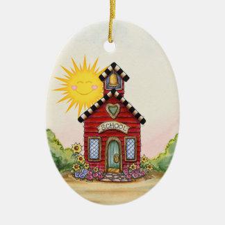 Revised! School House - SRF Ceramic Ornament