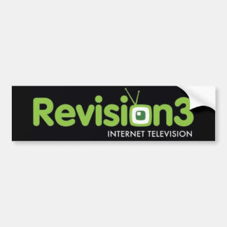 Revision3 Sticker Bumper Sticker