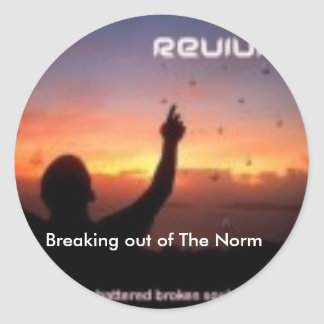REVIVAL ALBUM COVER FOR IPOD, Breaking out of T... Round Sticker