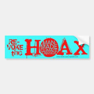 Revoke the hoax of man-made climate change car bumper sticker