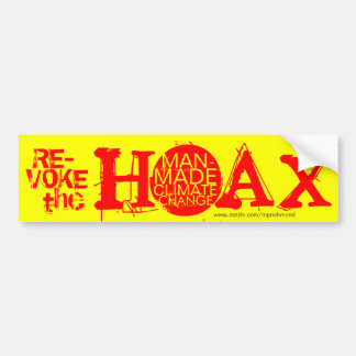 Revoke the hoax of man-made climate change bumper sticker