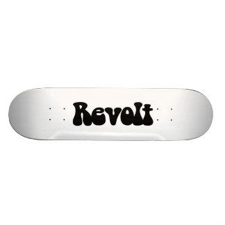 Revolt - Black on White Custom Skate Board