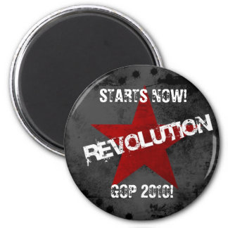 Revolution1024x768, STARTS NOW! , GOP 2010! 6 Cm Round Magnet