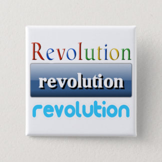 revolution 15 cm square badge