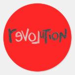 Revolution - Anti Social Round Stickers