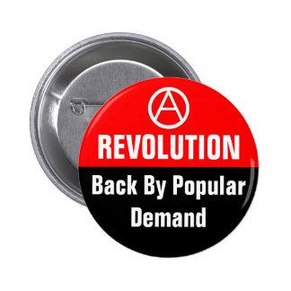 revolution back by popular design 6 cm round badge