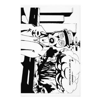 Revolution black and white stationery