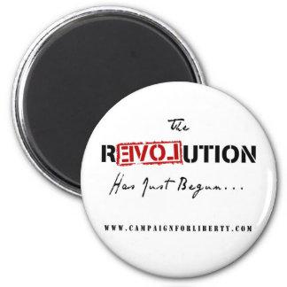 Revolution Button 6 Cm Round Magnet