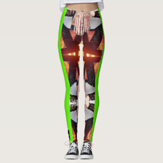 Revolution Child, Psycho' Leggins neon Green Leggings