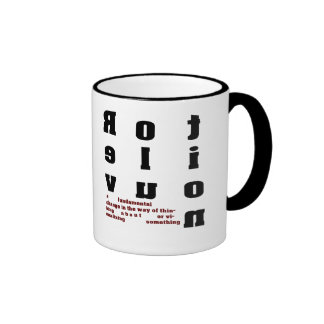 Revolution Font Art a fundamental change Mug