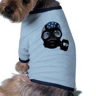 revolution protest gas mask dog clothes