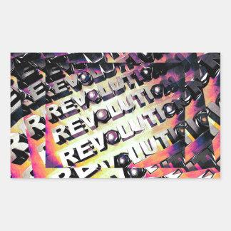 Revolution Rectangular Sticker