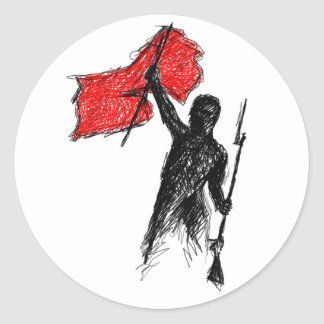 Revolutionary! Round Sticker