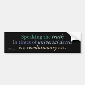Revolutionary Truth Bumper Sticker
