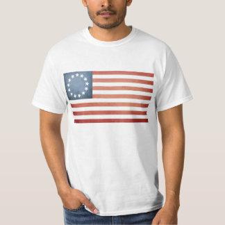 Revolutionary War Betsy Ross Faded U.S. Flag T-Shirt