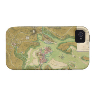 Revolutionary War Map of Boston Harbor 1776 Case-Mate iPhone 4 Covers