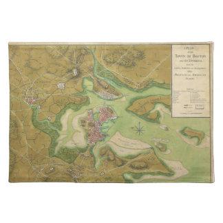 Revolutionary War Map of Boston Harbor 1776 Place Mats