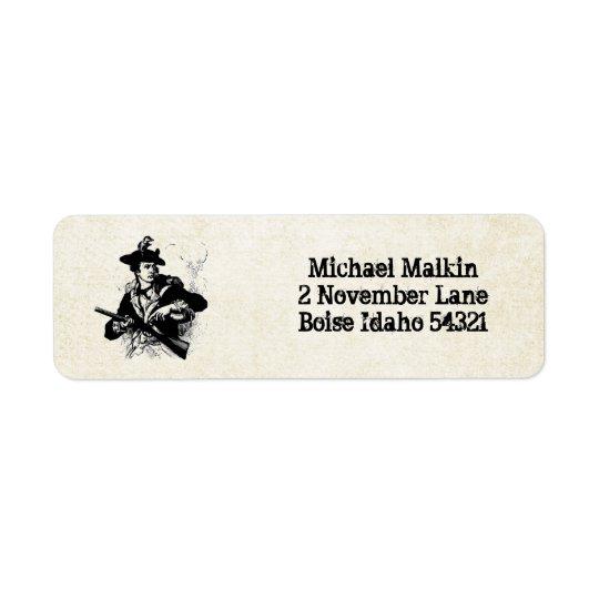 Revolutionary War Minuteman Return Address Label