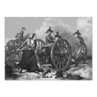 Revolutionary War Molly Pitcher Cannon Print