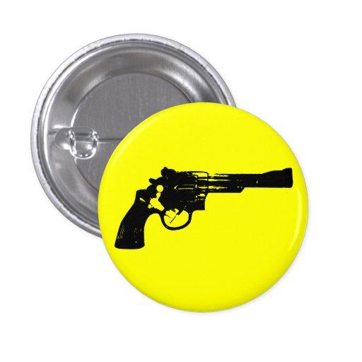 Revolver Pinback Button