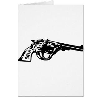 Revolver Pistol Card