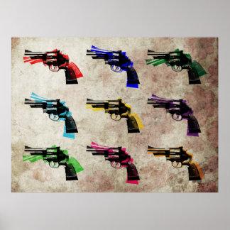 Revolver Pop Art Poster