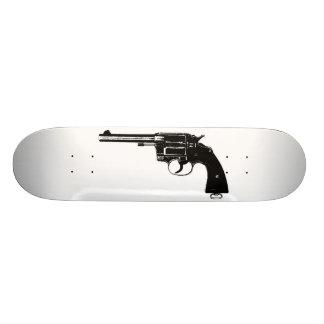 Revolver Silhouettes in Deep Black 21.6 Cm Skateboard Deck
