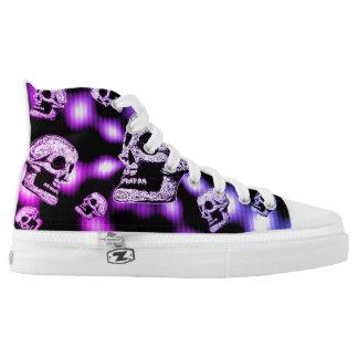 Revolving Skulls- Purple High Tops