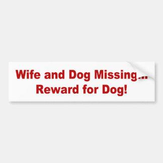 Reward for Dog Bumper Sticker