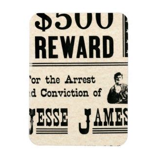 Reward for Jesse James Magnet