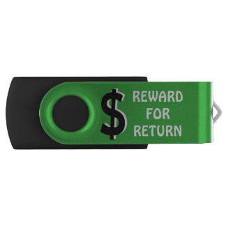 Reward for return swivel USB 3.0 flash drive