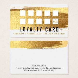 REWARD LOYALTY CARD glamourous gold brush stroke