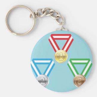 Reward Medals vector Basic Round Button Key Ring