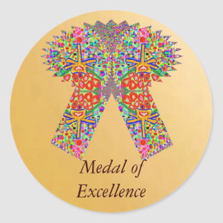 Reward n Award Excellence in Life Round Sticker
