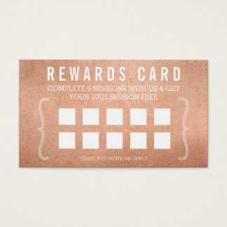 REWARD PUNCH CARD simple minimal trendy rose gold