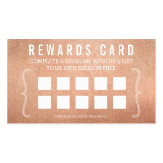 REWARD PUNCH CARD simple minimal trendy rose gold Pack Of Standard Business Cards