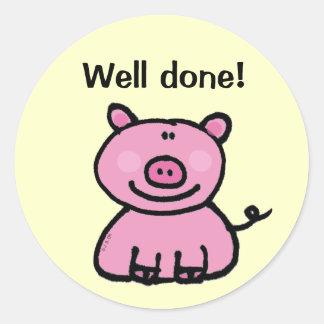 Reward sticker (well done!)
