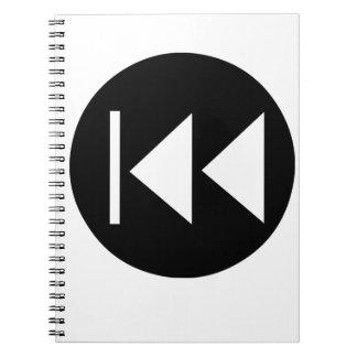 Rewind Button Notebook