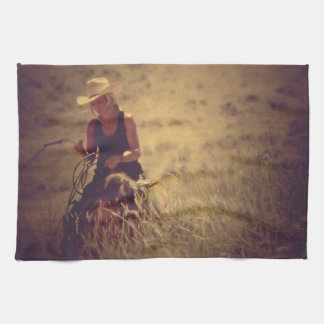 Rewind Kitchen Towel Western Cowgirl