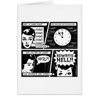 Rewrite Hell Comic Strip Greeting Cards