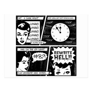 Rewrite Hell Comic Strip Post Card