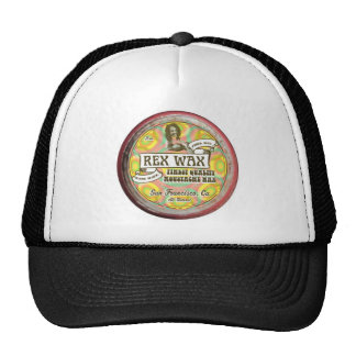 Rex Wax: Handmade Moustache Wax Black Trucker Hat