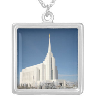 Rexburg Temple Silver Plated Necklace