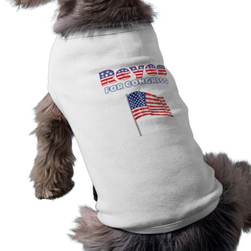 Reyes for Congress Patriotic American Flag Dog T-shirt